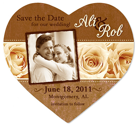 Caramel & Ivory Roses Save the Date Magnet
